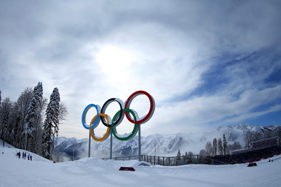 SOCHI%2C+RUSSIA+-+FEBRUARY+19%3A++Mist+rises+behind+the+Olympic+Rings+during+day+12+of+the+Sochi+2014+Winter+Olympics+at+Laura+Cross-country+Ski+%26amp%3B+Biathlon+Center+on+February+19%2C+2014+in+Sochi%2C+Russia.++%28Photo+by+Julian+Finney%2FGetty+Images%29