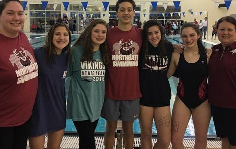 Viking Swimmers Excel in County, Advance to State