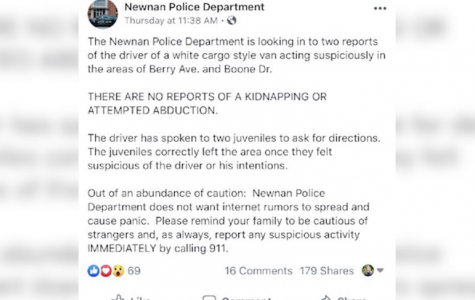 The Newnan Police Department Investigates White Vans Approaching Children